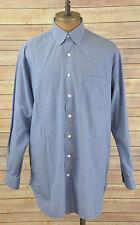 ROBERT TALBOTT Blue Cotton Button Front Dress Shirt 16.5 -34 (XL) MADE IN USA