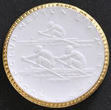 Rudern Neptun 1922 Meissen Medaille Gold tadellos Porzellan selten,Scheuch 1962w