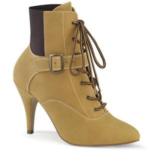 Brown Tan Construction Sneaker Boots Mens Crossdresser Drag Womans Heels 14 15