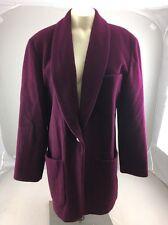 Vintage PENDLETON Knockabout WOOL Red Maroon BLAZER Jacket Pea COAT USA S/M USA
