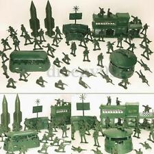 56pcs/set Military Missile Base Model Playset Toy Soldier Green Figure Army Men