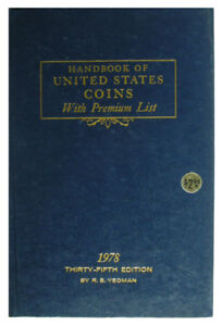 VINTAGE: 1978 BLUE BOOK - HANDBOOK OF UNITED STATES COINS