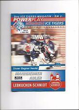 DEL Programm: NÜRNBERG ICE TIGERS - MANNHEIM ADLER 11.03.2001, Saison 00/01