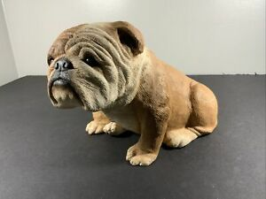 1984 SANDRA BRUE  SIGNED ~  SANDICAST ENGLISH BULLDOG FIGURE ~ STATUE/DOORSTOP
