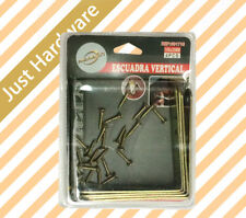 4PCS 90 Degree Metal Angle Bracket With Screws Set Support Corner Brace Golden