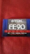 1 Blank new sealed recordable cassette tape TDK .