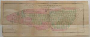 Casimir Goerck 1796 Map MANHATTAN New York City Bloomingdale Road Burying Ground
