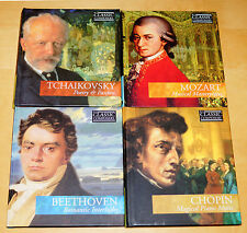 Mozart Tchaikovsky Chopin Beethoven The Classic Composers 4 x CD & booklet