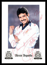 "Alexis Arguello Autographed 5x7 Photo 3x World Champ ""To John"" Beckett V62556"