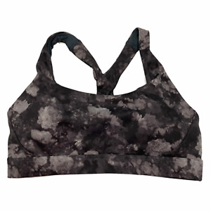 NWT ATHLETA A-C Ultimate Bra in Supersonic Sz M-L Gray Blue Pink