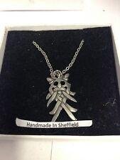 """Odin's Mask WE-OMKR Emblem on Silver Platinum Plated Necklace 18"""""""