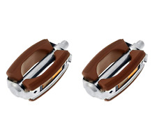 Bicycle Pedals - Classic retro vintage rubber block, colour brown 3445.