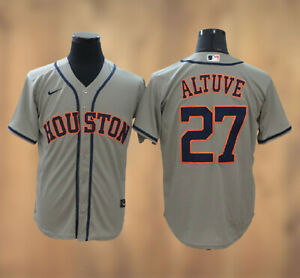 Jose Altuve #27 Houston Astros Cool Base Men's stitched Jersey Free Shipping