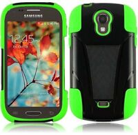 Hybrid Hard Soft Dual Layer Case Cover With Stand For Samsung Galaxy T399