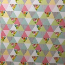 Dolls House Bunting Wallpaper 1:12 Bunting Geometric Party Celebration Textured