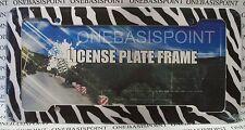 Zebra Print License Plate Frame Sign Car Tag Auto Vanity Africa Safari Animals