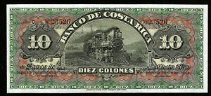 Costa Rica 10 Colones 1901 - 1905 | UNC | #e13-d