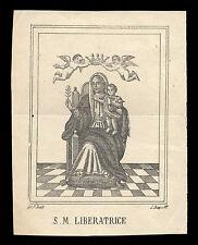 santino stampa popolare 1800 S.MARIA LIBERATRICE