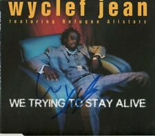 """Wyclef Jean """"The Fugees"""" Autograph Signed CD Cover """"we trying to stay alive"""""""