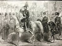 1856 Print Russian Royal Tsar Alexander II St Petersburg Original Antique