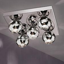 wofi Ceiling Light Empire 5 Arms Chrome Glass Ball 42X42 CM Lamp G9 Frame Light