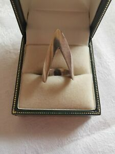 Sterling Silver Unusual Design Small Ring, Size H