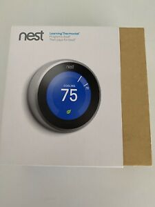 FOR PARTS REPAIR Nest Learning Thermostat SLIVER 2ND GEN Untested