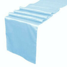 "Satin Table Runner 10 pcs 12""X108"" Wedding venue party decoration - Baby Blue"