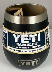 YETI Rambler 10 oz Wine Tumbler Black *Rare* Out Of Production HTF
