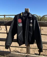 Team Roping / Reno Rodeo Men's Jacket Leather Arms Wool & Lined - NICE! Men's L