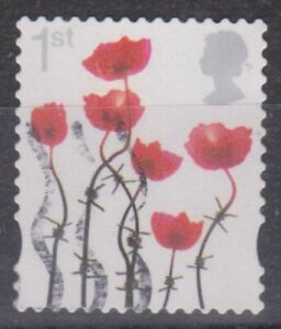 z3856) Great Britain. 2012. Used. SG 3414. 1st Lest We Forget.