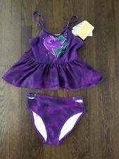 Disney Store Girl Descendants 2 Mel 2 Piece Swimsuit Sz 11/12