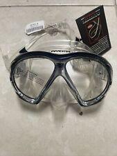 USED Atomic Aquatics SubFrame Mask - Clear/Black - Scuba Diving / Snorkel
