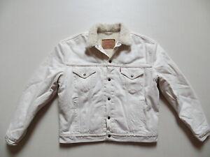 Levi's 70603 Jacke, Jeansjacke Gr. XL, weiß ! Winterjacke, warm Fell gefüttert !