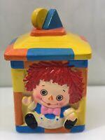 Vtg mid century Raggedy Ann cookie jar