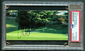 Payne Stewart signed autograph auto 2.5x5 cut PGA Golf Legend PSA Slabbed