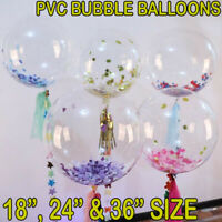 "NICE 18"" 26"" 36"" Clear Transparent PVC BOBO Balloons Party For All Occasions UK"