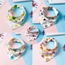 Fashion Feeding Triangle Scarf Baby Infant Soft Cotton Bibs Color Randomly 5 Pcs