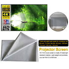 30''-110'' Portable Foldable Projector Screen 16:9 HD Home Cinema Theater US
