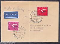 A 24 ) toller Belege 1955 - Wiederaufnahme des Deutschen Luftverkehrs (Köln Bonn