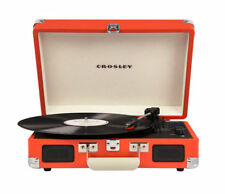 Crosley Cruiser Portable Belt Driven 3 Speed Music Turntable - Burnt Orange (CR8005AOR)