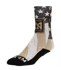 Rock Em LAFC Black/Gold For Club and Country Crew Socks Size S/M-Fits Size 6-8.5