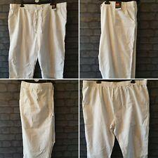 womens bm white three quarter length drawstring trousers size 24 casual summer