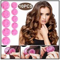 10 x Magische Silikon Lockenwickler Haar Frisurenhilfe Locken Styling-Zubehör