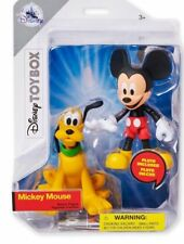 """Disney Store MICKEY MOUSE & PLUTO Toybox 4"""" Action Nightmare Christmas 2018 NEW"""