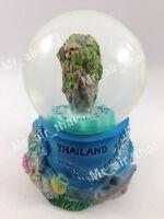 Thai Vintage Snow Globe Water Art Glass Paper Weight 3D Resin Souvenir Gift 006
