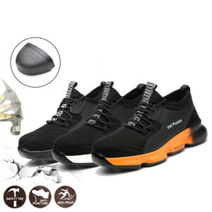 Mens Steel Toe Cap Saftey Shoes Protective Lightweight Working Trainers Boots