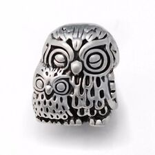 Owl European Bead Bird Charms For European Charm Bracelets