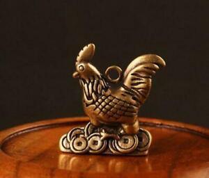 China brass chicken small statue #2