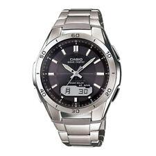 Casio Wrist Watch Titanium, Grey Dial, Solar Powered, Radio Controlled